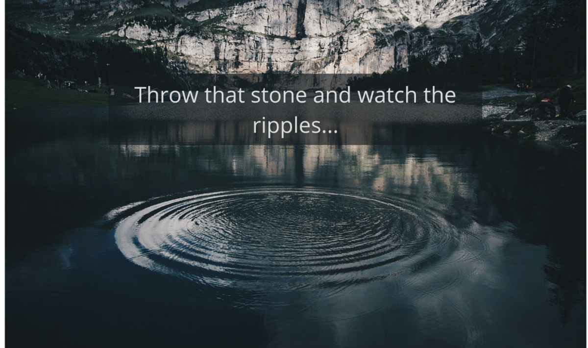 Throw That Stone….