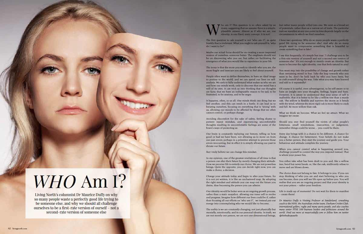 Who Am I? – Published On Living North Magazine, June21 Issue